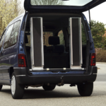 Rollstuhlrampe Auto Klappbar Eingeklappt