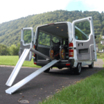 Rollstuhlrampe Mobil Klappbar 2 Teilig Klappvorgang