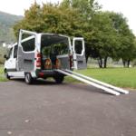 Rollstuhlrampe Mobil Klappbar 3 Teilig An Auto Seitlich