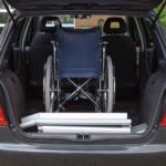 Rollstuhlrampe Mobil Klappbar 3 Teilig Verpackt Im Auto