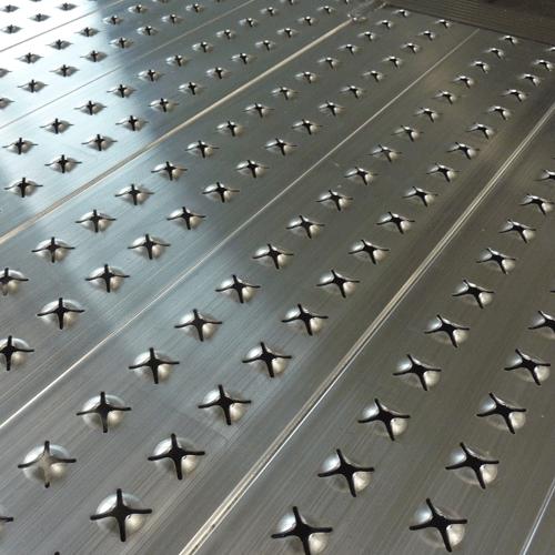 Rollstuhlrampe fest Detail rutschsichere Oberfläche