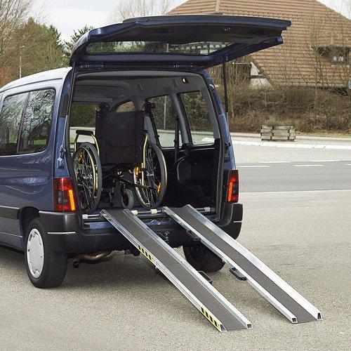 Rollstuhlrampe Auto Klappbar Ausgeklappt