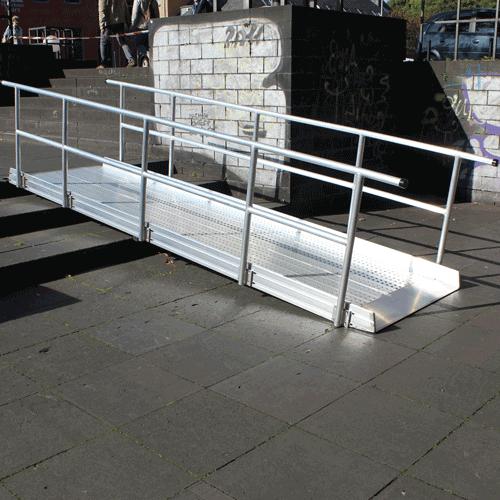 Geländer Für Rollstuhlrampe Fest Beidseitig Diagonal