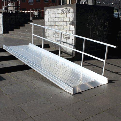 Geländer Einseitig Für Rollstuhlrampe Fest Rechte Seite
