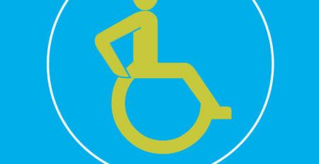 Skizze Bewegungsfläche für Rollstuhlfahrer