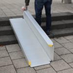 Rollstuhlrampe / Kofferrampe Klappvorgang
