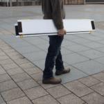 Rollstuhlrampe / Teleskoprampe 2 Teilig Transport
