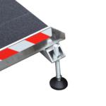 Rollstuhlrampe Keilbrücke Variabel Detail Fuß