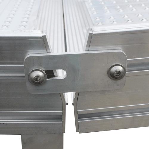 Rollstuhlrampe frei konfigurierbar Detail Verbindung Elemente