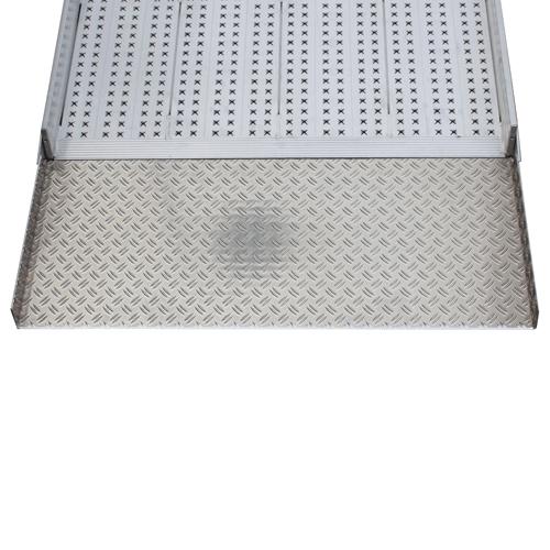Rollstuhlrampe frei konfigurierbar Detail Auffahrplatte unten