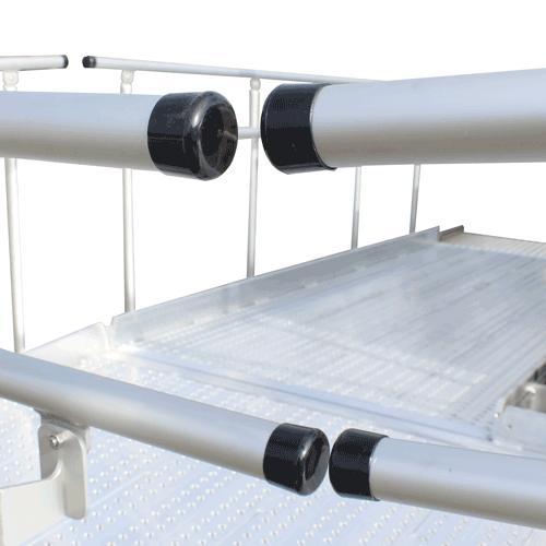 Rollstuhlrampe frei konfigurierbar Detail Handläufe