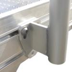 Rollstuhlrampe Frei Konfigurierbar Detail Anschluss Geländer