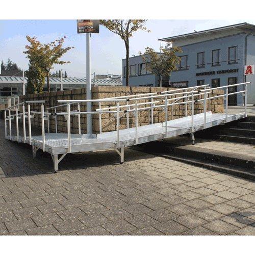 Rollstuhlrampe Frei Konfigurierbar Mit Geländer An Treppe