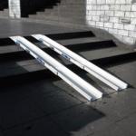 Rollstuhlrampe Klappbar Und Teleskopierbar Auf Treppe