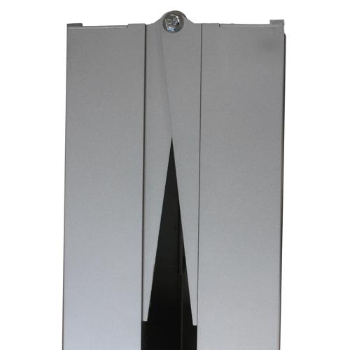 Rollstuhlrampe / Flächenrampe 2-teilig Detail Klappscharnier