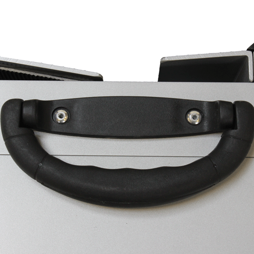 Rollstuhlrampe / Flächenrampe 2-teilig Detail Griff