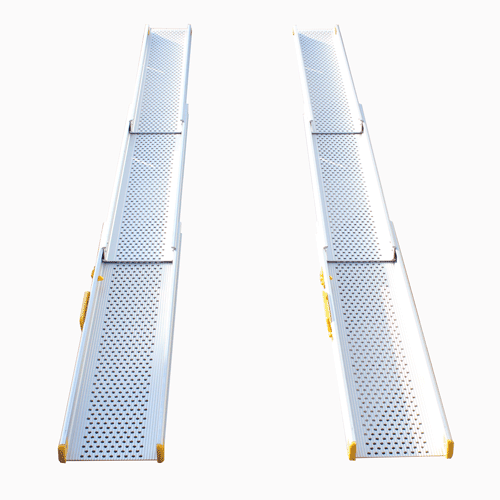 Rollstuhlrampe / Teleskoprampe 3- teilig frontal