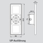 Taster /Schalter Für Türantrieb Zeichnung Technisch