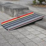 Rollstuhlrampe Faltbar Extrem Leichtauf Stufe Diagonal