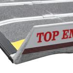 Rollstuhlrampe Faltbar Extrem Leicht Detail Auflage Oben