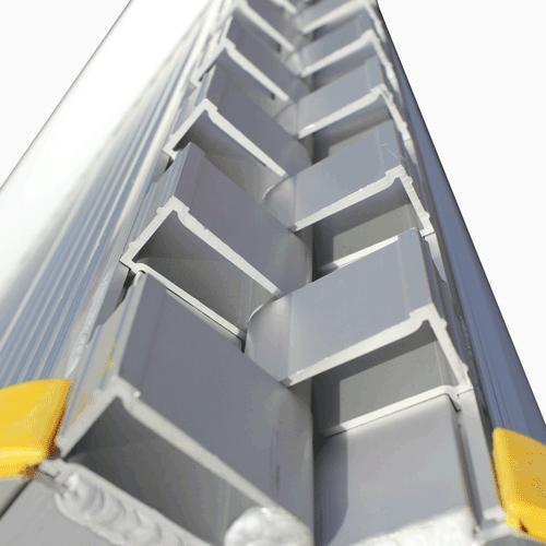 Rollstuhlrampe / Flächenrampe klappbar leicht Detail Scharnier