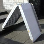 Rollstuhlrampe / Flächenrampe Klappbar Leicht Klappvorgang