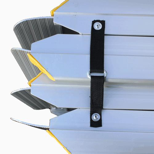 Rollstuhlrampe Fllächenrampe klapp- UND faltbar Detail Fixierung
