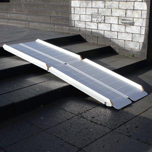 Rollstuhlrampe Fllächenrampe Klapp UND Faltbar Auf Treppe