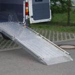 Rollstuhlrampe / Flächenrampe Auto 2 Teilig Komplett