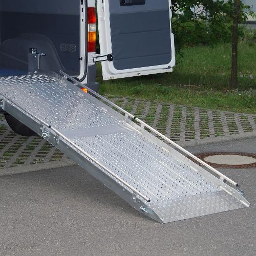 Rollstuhlrampe / Flächenrampe Auto 2-teilig komplett