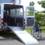 Rollstuhlrampe / Flächenrampe Auto 2 Teilig Ausgeklappt