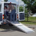 Rollstuhlrampe / Flächenrampe Auto 2 Teilig Rollstuhl Rausfahren