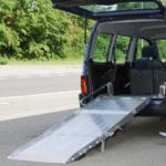 Rollstuhlrampe / Flächenrampe Auto 3 Teilig Ausgeklappt