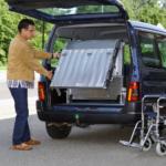 Rollstuhlrampe / Flächenrampe Auto 3 Teilig Ausklappvorgang 1