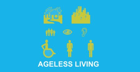 Grafik zu Ageless Living mit verschiedenen Symbolen