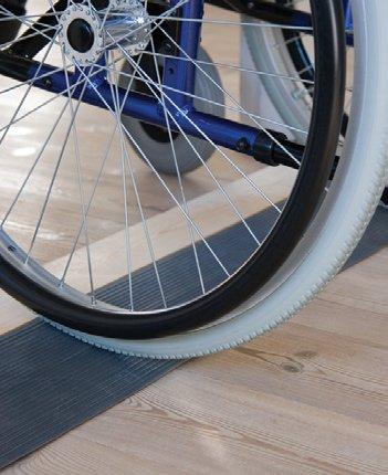Rollstuhlrampe / Schwellenkeil Gummi