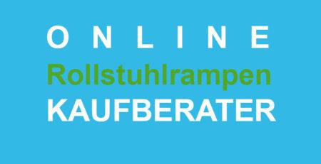"""Grafik: Schriftzug """"Online Rollstuhlrampen Kaufberater"""""""