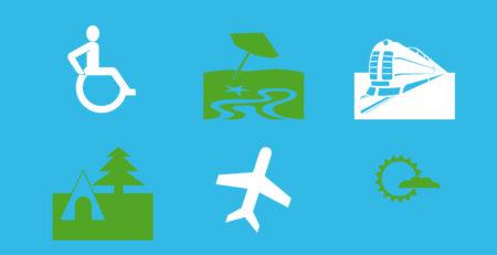 Grafik: Symbole zum Thema Reisen