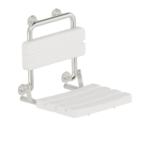 Duschsitz Mit Rückenlehne Edelstahl Wandmontage
