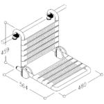 Duschstuhl Einhängesitz Kunststoff Klappbar Zeichnung 3D