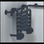 Duschstuhl Einhängesitz Kunststoff Klappbar Hoch Geklappt 2