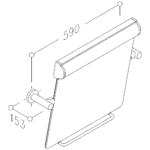 Kippspiegel Mit Leuchte Kunststoff Zeichnung 3D
