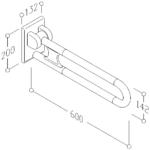 Stützklappgriff Kunststoff Zeichnung 3D
