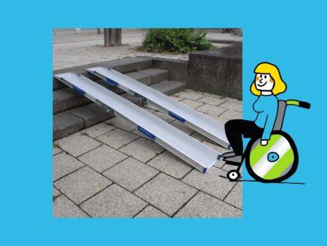 Rollstuhlrampe klappbar